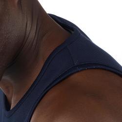 男式篮球运动正反两穿背心 白色/蓝色