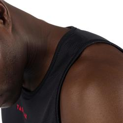 篮球运动正反两穿背心 迷彩灰/黑色