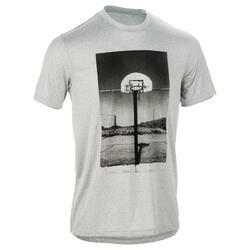 成人篮球T恤 Fast Photo -灰色