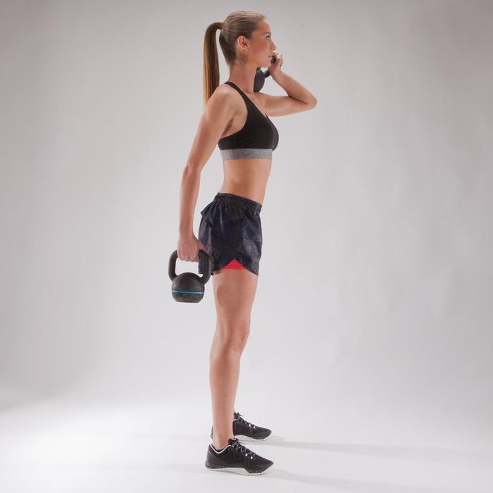 500 循环训练女式短裤 - 蓝色花纹