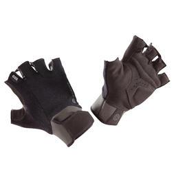 力量训练手套 500系列 腕部魔术贴防撕裂手套- 黑色/卡其色