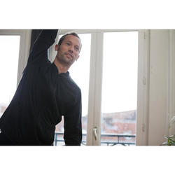 男式基础健身拉链夹克 100 系列 - 灰色