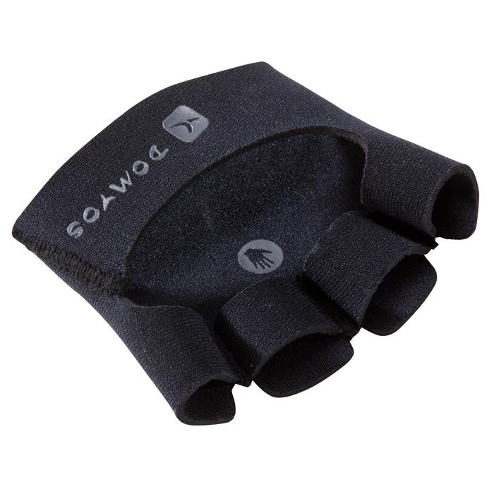 力量训练掌垫 健身手套 - 黑色