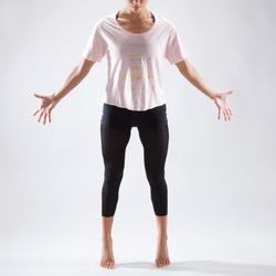 Women's Short Dance T-Shirt - Pale Pink