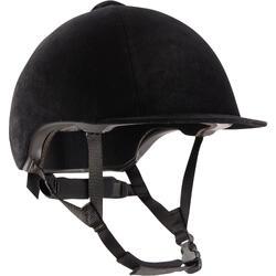 140 天鹅绒马术头盔 - 黑色