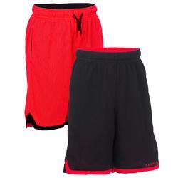 篮球运动快干排汗透气双面短裤青少年篮球裤 TARMAK Reversible Kids Basketball Shorts