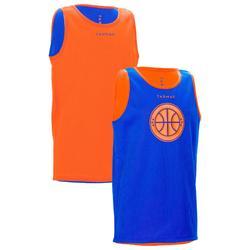 篮球运动双面快干排汗透气背心 青少年篮球服 TARMAK Reversible Kids Basketball Jersey