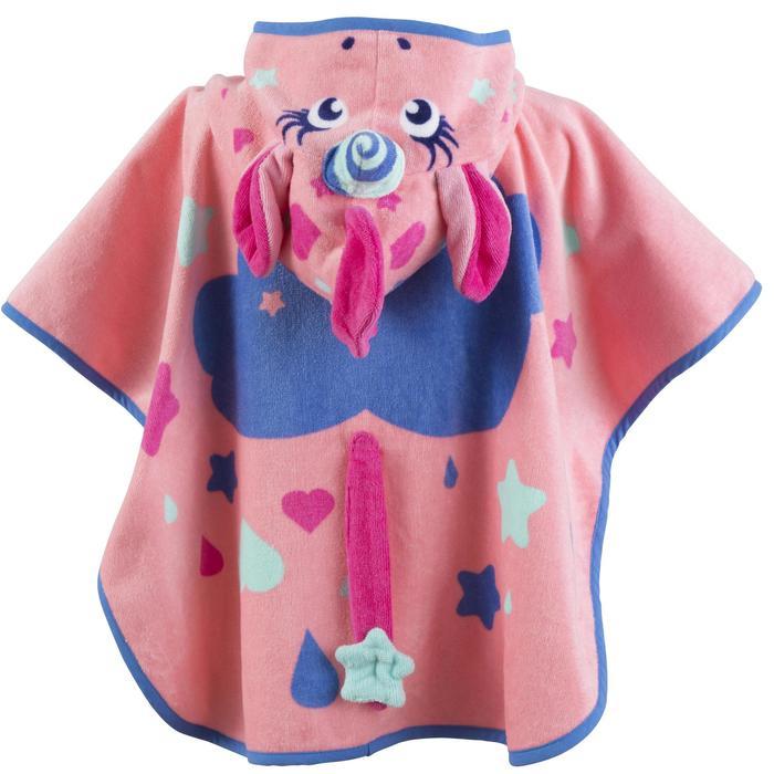 婴儿披风带风帽pink unicorn print