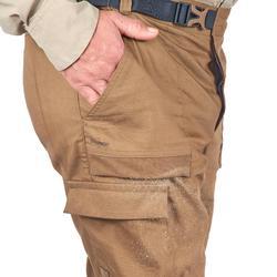 男式沙漠徒步长裤 DESERT 500 - 棕色