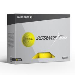 高尔夫运动双层练习用球高尔夫球12只装 INESIS 100系列