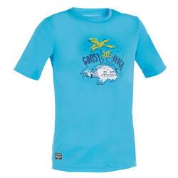 儿童冲浪短袖防晒T恤- Blue Print