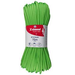攀岩绳索 - 9.5 x 70 m 绿色