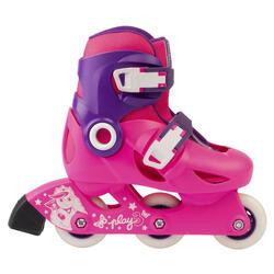 女童直排轮溜冰鞋Play 3 Sizes 8C to 9.5C