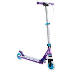 轮滑运动6-12岁避震刹车轻便坚固安全带手刹青少儿滑板车 OXELO Mid 5 kid's Scooter with Suspension and brake