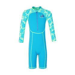 婴儿长袖泳衣Blue print