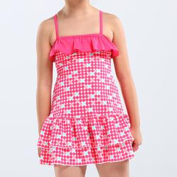 冲浪舒适稳定女童连体式比基尼 OLAIAN Girls' One-Piece Swimsuit