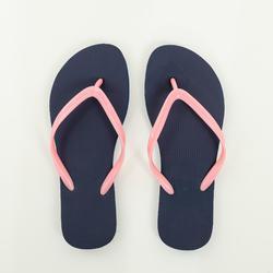 女式沙滩人字拖TO 100 W - Blue/Coral