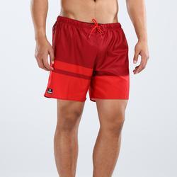 男式短款沙滩裤100 Red stripes