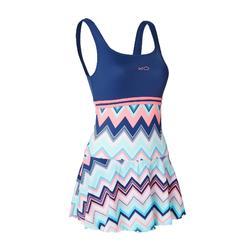 女式连体裙式泳衣Loran - Evro Blue