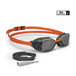 游泳眼镜900 B-FAST - Black Orange, Smoke Lenses