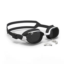 游泳眼镜500 B-FIT - White Black, Smoke Lenses