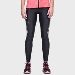 女式跑步运动快干紧身裤-斑驳黑色