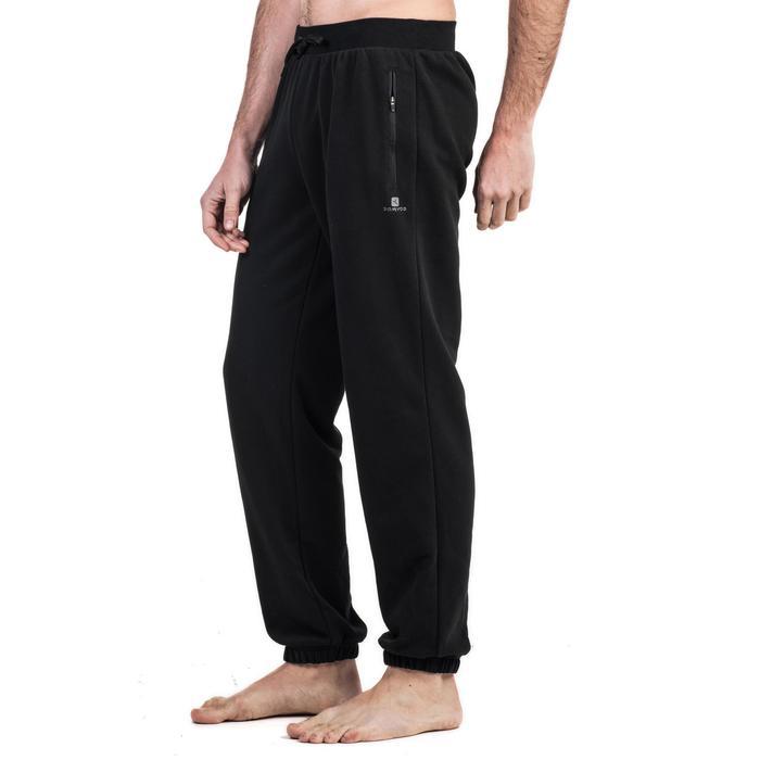 男式基础健身直筒弹力拉链长裤