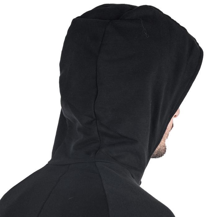 男式基础健身弹力连帽夹克