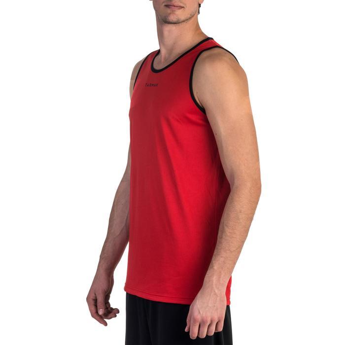 篮球运动正反两穿背心 黑色/红色