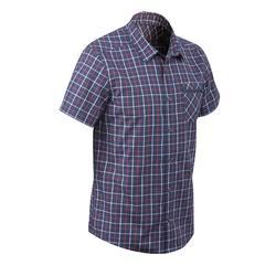 户外运动轻薄速干舒适透气衬衣男式短袖衬衫 QUECHUA Shirt Arpenaz 100
