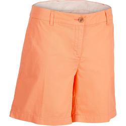 女式高尔夫短裤 500系列 适用于凉爽天气 珊瑚红