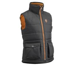 500 Warm Children's Horse Riding Gilet - Grey/Camel