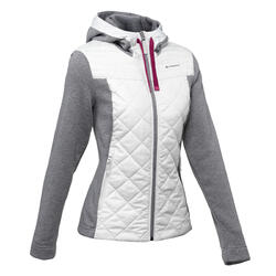 NH500 Hybrid Women's Hiking Pullover - Light grey