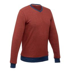 NH150 Men's nature hiking pullover red/blue