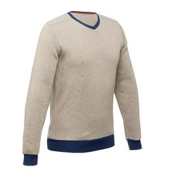 NH150 Men's Hiking Pullover - Beige and Blue