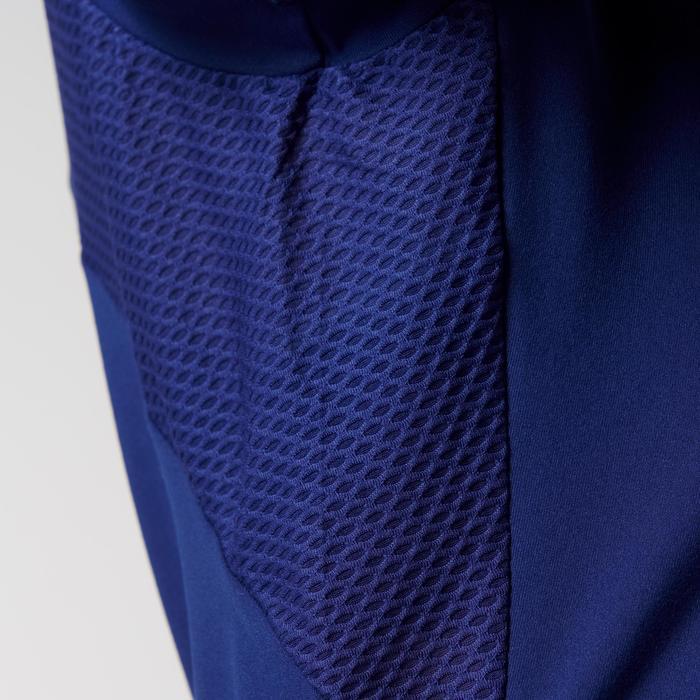 女士跑步快干T恤-海军蓝色