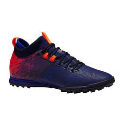 成人硬地足球鞋 Agility 900 MiD FG - 蓝色/橙色