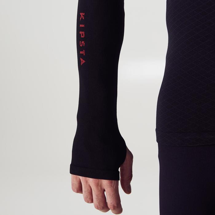 成人长袖训练紧身衣 Keepdry 900-黑色/红色