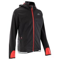 儿童保暖运动夹克-黑色/红色