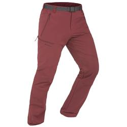 SH500 Men's x-warm stretch burgundy snow hiking trousers.