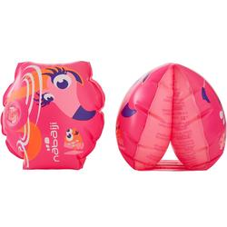 "11-30 kg Children's Swimming Armbands - ""PINK FLAMINGO"" print"