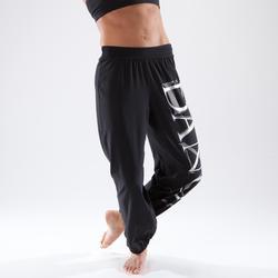 现代舞--舞蹈弹性面料,卷边女士长裤 DOMYOS