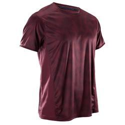 有氧健身印花排汗透气心肺运动男士T恤短袖 DOMYOS