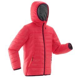 MH500 女童青少年登山徒步填充夹克 - 粉色