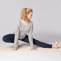 女式舒缓瑜伽紧身裤 - Navy Blue