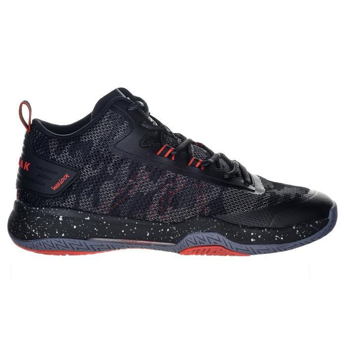 成人篮球运动鞋SC500 Mid适用于中阶篮球爱好者 - 黑色/红色