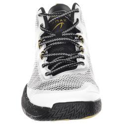 成人篮球运动鞋SC500 Mid适用于中阶篮球爱好者 - 白色/黑色/金色