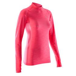 KIPRUN 女士长袖亲肤跑步T恤 - 珊瑚色
