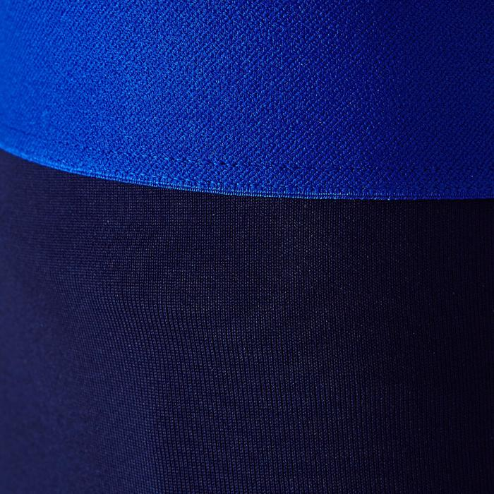 儿童训练紧身裤 Keepdry 100 - 深蓝色/突出小腿