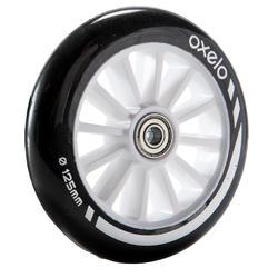 滑板车轮子带轴承1 x 125mm - black